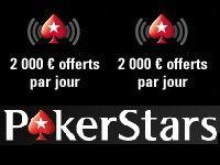 PokerStars vous offre 2000 Euro par jour sur mobile