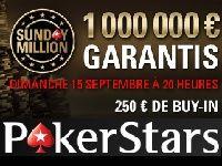 PokerStars : 1 000 000 Euro garantis ce dimanche 15 Septembre