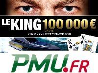 Poker : 100 000 Euro pour Le King de PMU Poker