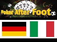 Allemagne - Italie : Poker After Foot sur Bwin Poker ?