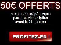 Barrière Poker vous offre 50 Euro sans dépôt en Octobre