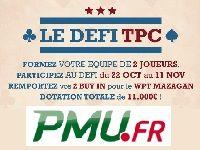 PMU Poker : relevez en duo le Défi TPC vers le WPT Mazagan