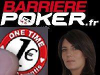 Barrière Poker : Tournois One Time et Bounty Estelle Denis