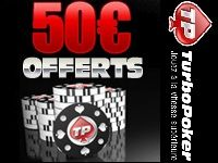 Turbo Poker : 50 Euro encore offerts jusqu'au 30 Juin 2013